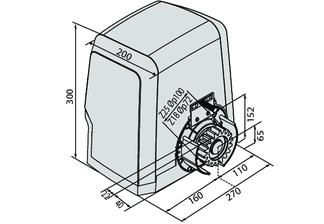 технический чертеж ARES BT A