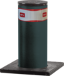 Hydraulic retractable bollard with security system for power outages