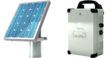 Solar powered gate opener: solar panel, control unit and expansion battery for electric gates